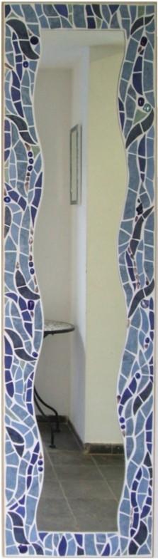 Mosaik Spiegel Wellen Blau Mosaik Spiegel