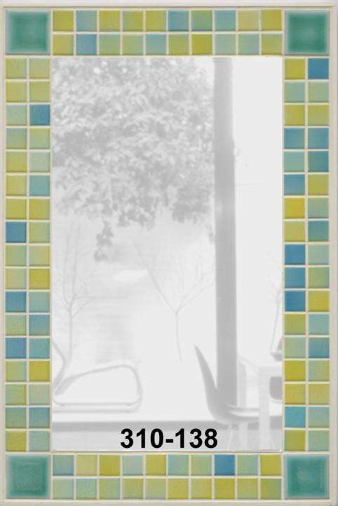 spiegel mit mosaik in gr ngelb mosaik spiegel. Black Bedroom Furniture Sets. Home Design Ideas