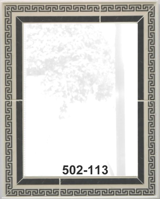 orientalische borte in schwarz weiss mosaik spiegel. Black Bedroom Furniture Sets. Home Design Ideas