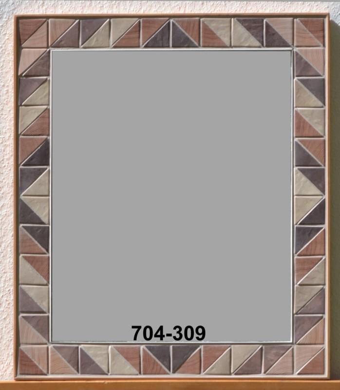 Ein Mosaikspiegel In Brauntonen Mit Rautenmuster Mosaik